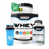 combo whey protein biovite shaker